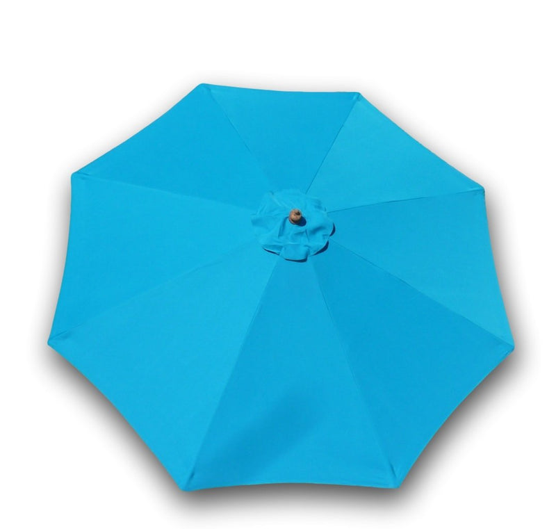 9ft Market Patio Umbrella 8 Rib Replacement Canopy Teal - Formosa Covers