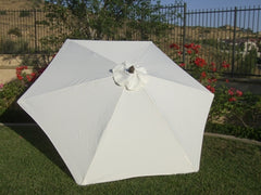 9ft Market Patio Umbrella 6 Rib Replacement Canopy Off-White - Formosa Covers