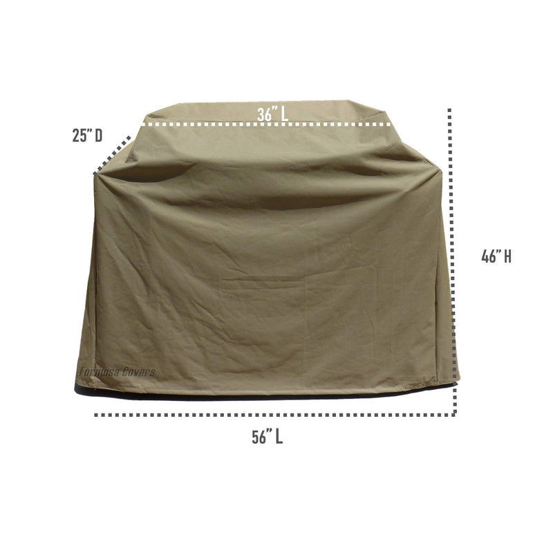 "BBQ Outdoor Grill Cover 56""L x 25""D x 46""H Taupe - Formosa Covers"
