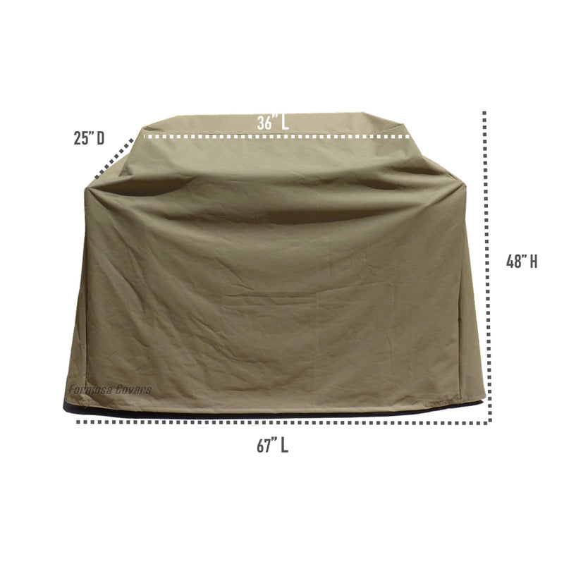 "BBQ Outdoor Grill Cover 67""L x 26""D x 48""H Taupe - Formosa Covers"
