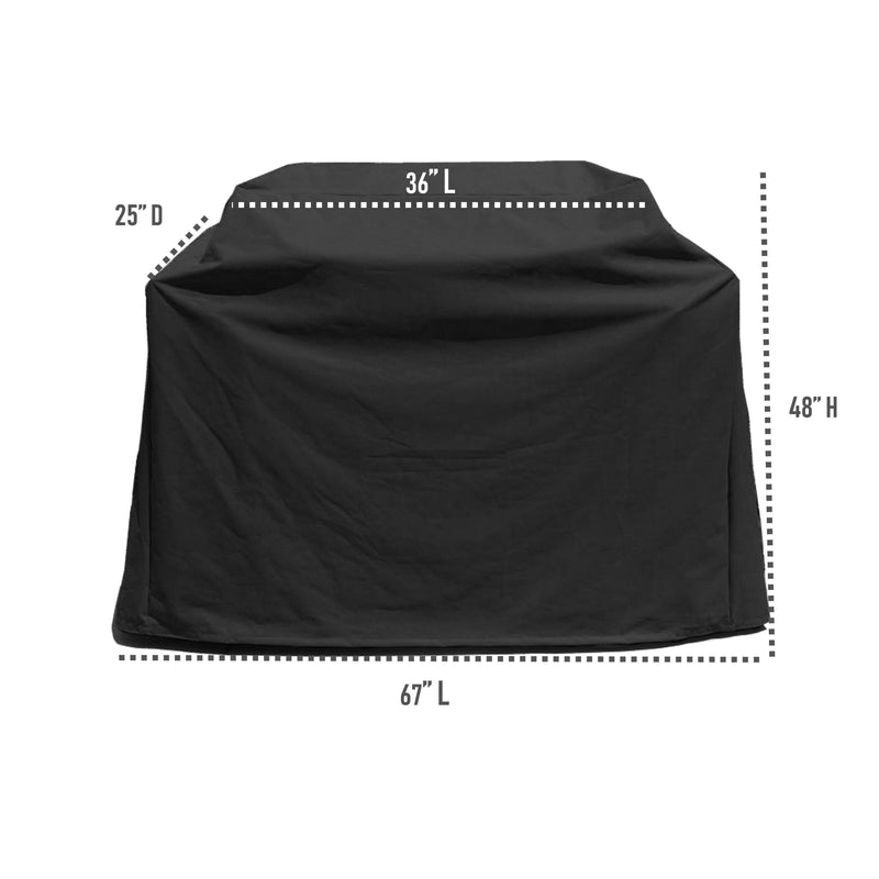 "BBQ Outdoor Grill Cover 67""L x 26""D x 48""H Black - Formosa Covers"