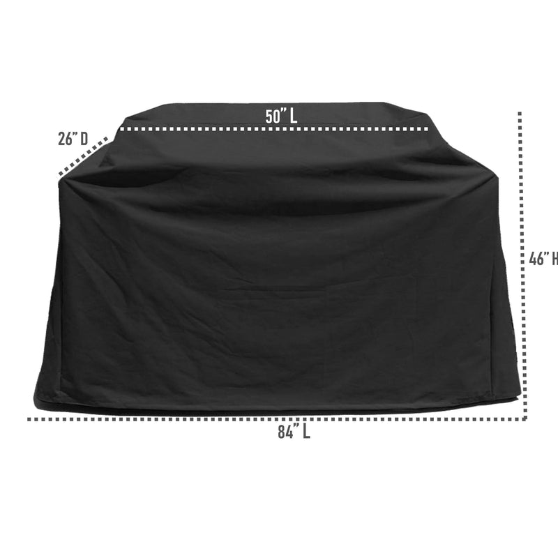 "BBQ Outdoor Grill Cover 84""L x 26""D x 48""H Black - Formosa Covers"
