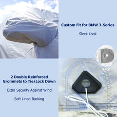 Car Cover for BMW 3 Series Sedan 320i, 330i, 340i, 328D, 330e; 182