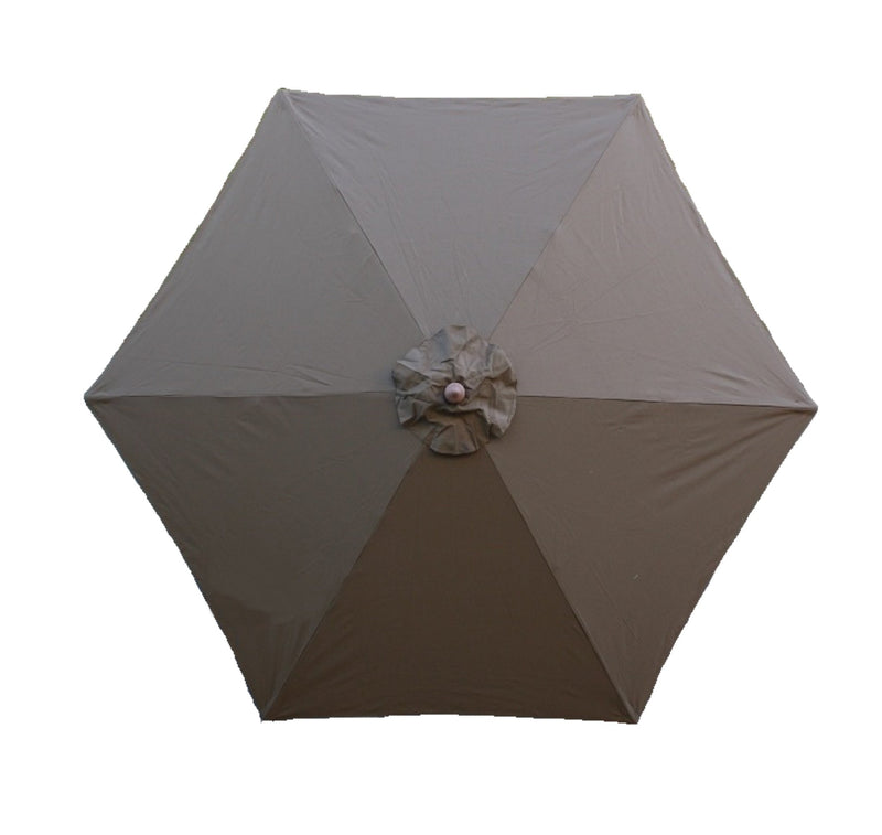 9ft Market Patio Umbrella 6 Rib Replacement Canopy Cocoa - Formosa Covers