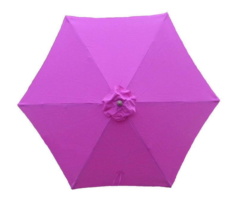 9ft Market Patio Umbrella 6 Rib Replacement Canopy Fuchsia - Formosa Covers
