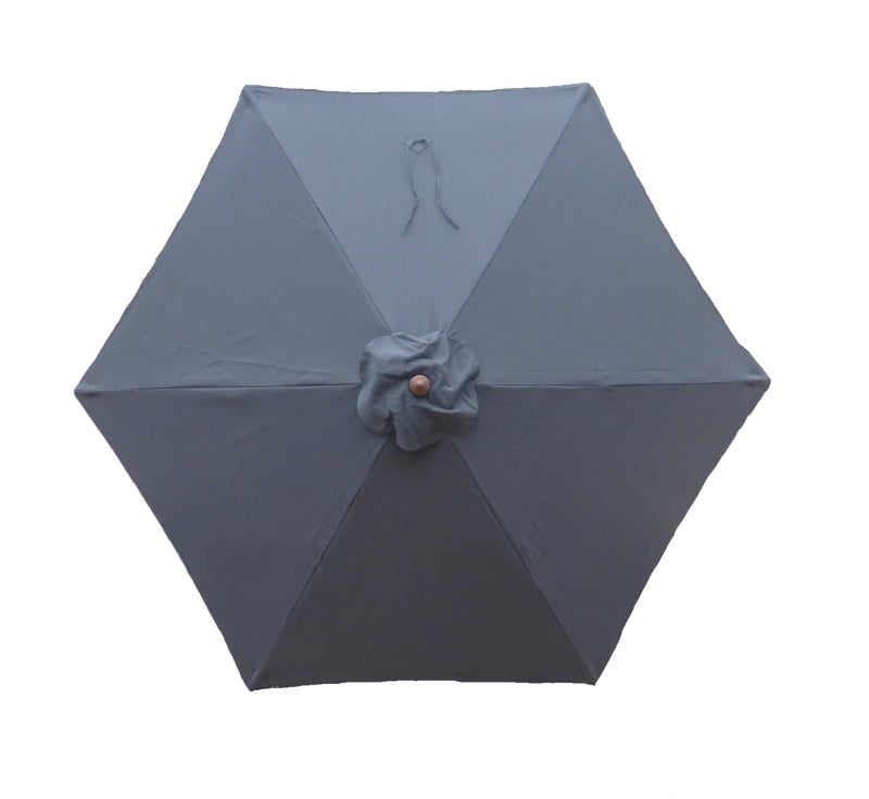 9ft Market Patio Umbrella 6 Rib Replacement Canopy Charcoal Grey - Formosa Covers
