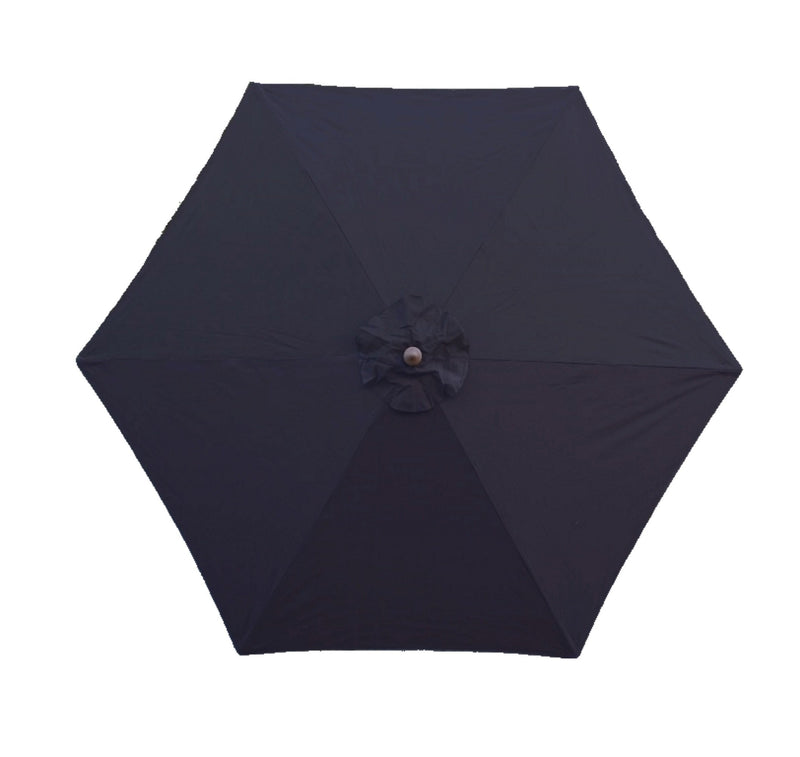 9ft Market Patio Umbrella 6 Rib Replacement Canopy Dark Navy Olefin - Formosa Covers