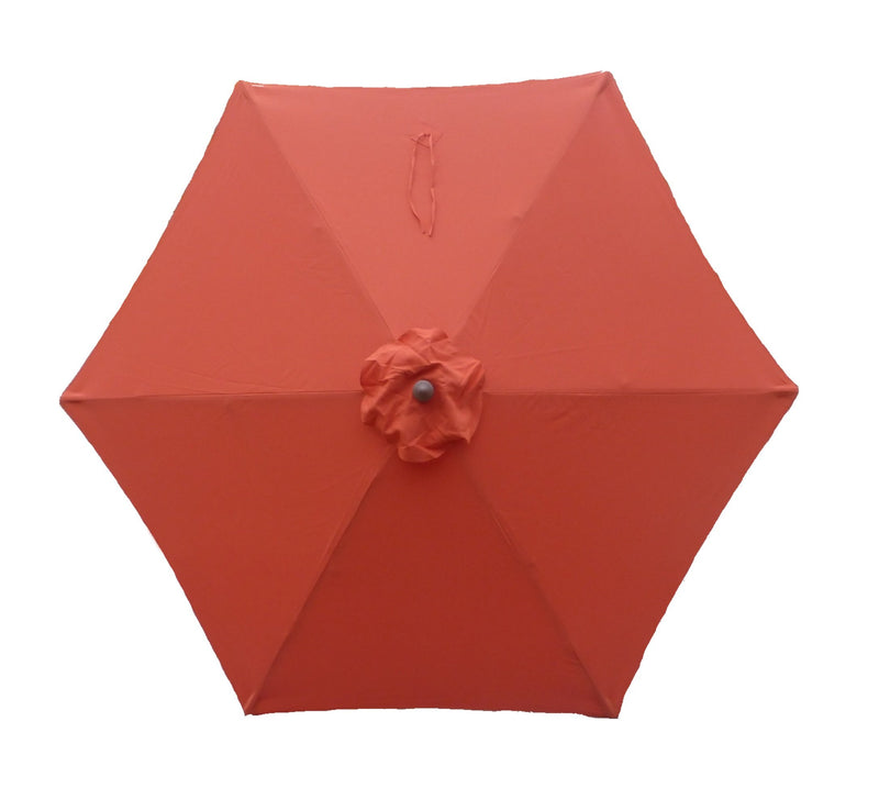 9ft Market Patio Umbrella 6 Rib Replacement Canopy Orange - Formosa Covers