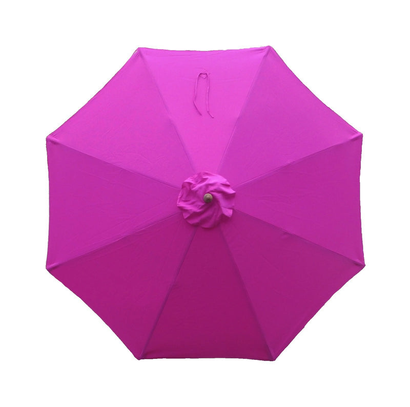 9ft Market Patio Umbrella 8 Rib Replacement Canopy Fuchsia - Formosa Covers