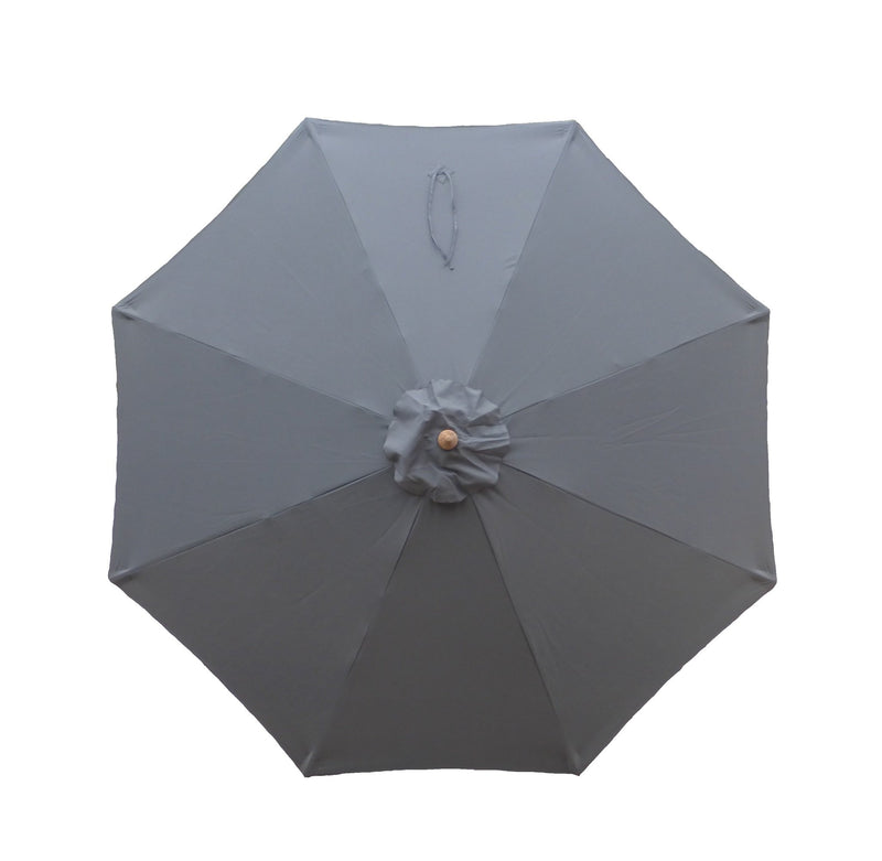 9ft Market Patio Umbrella 8 Rib Replacement Canopy Charcoal Grey - Formosa Covers