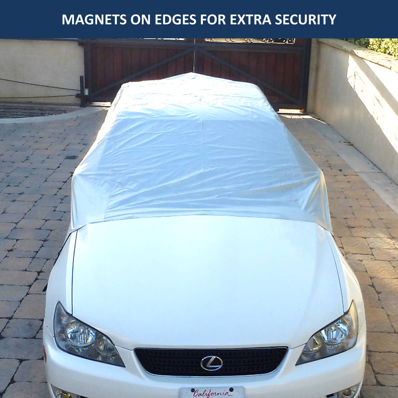 Car Snow and Windshield Sun Shade Full Top Cover fits Small to Mid Size Car - Formosa Covers