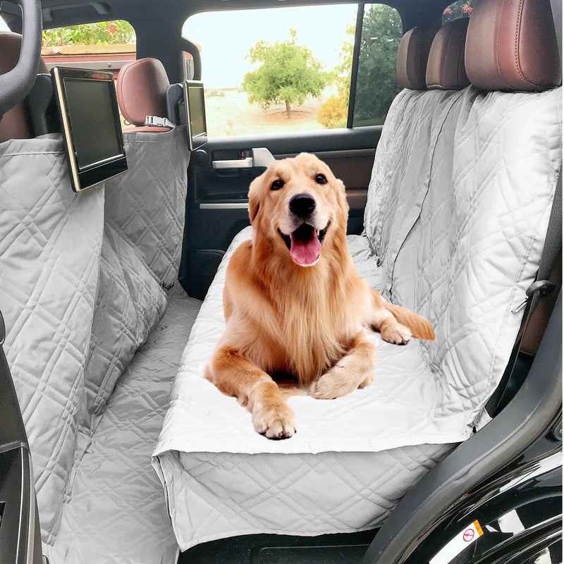 "X-Large Car Seat Cover For Dogs and Pets 56""W Grey"