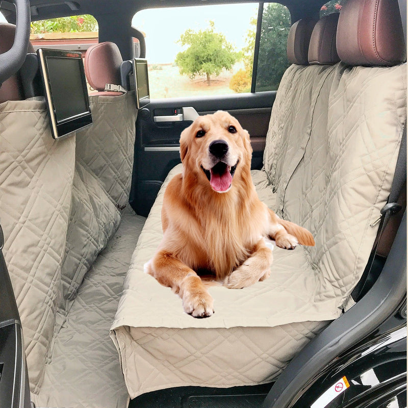 "X-Large Car Seat Cover For Dogs and Pets 56""W Taupe - Formosa Covers"