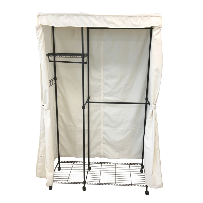 "Portable Garment Rack Cover 48""Wx18""Dx72""H - Formosa Covers"