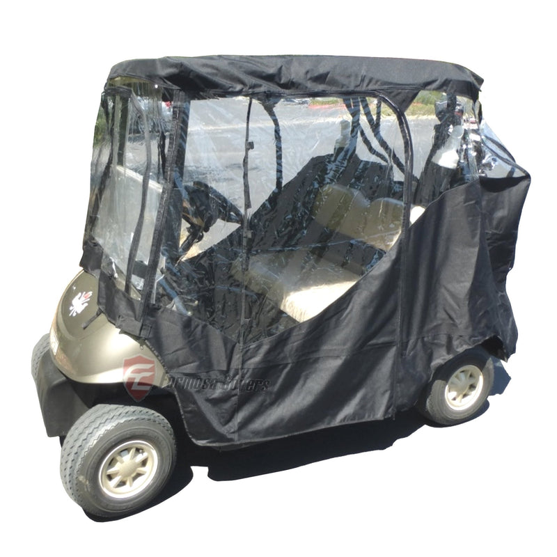 2 Passenger Golf Cart Driving Enclosure Cover Black - FINAL SALE - Formosa Covers