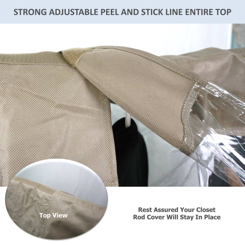 "Closet Rod and Portable Clothing Rack Shoulder Garment Dust Cover Adjustable to fit 20"" to 36"" long - Formosa Covers"