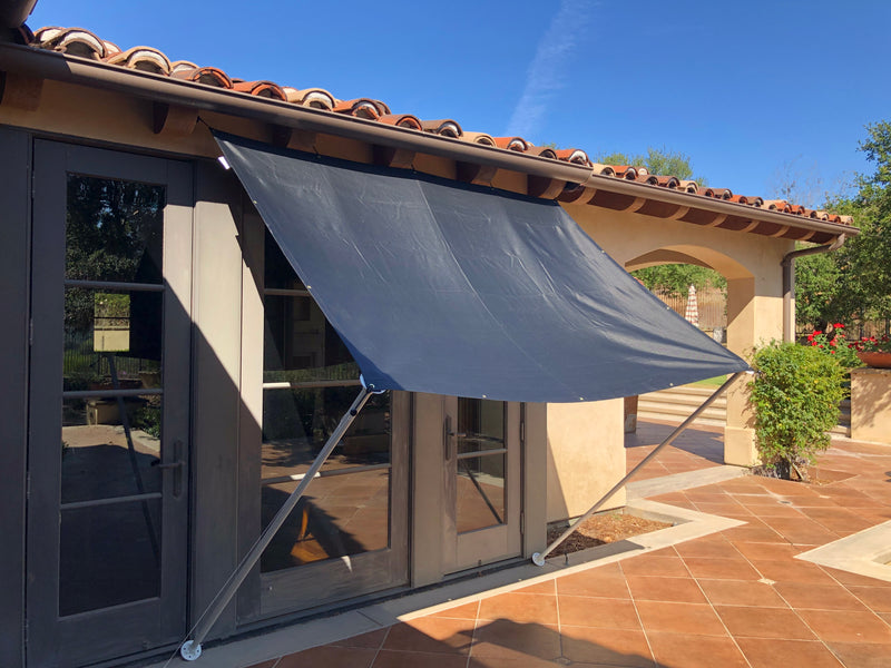 Shade Sail Sun Screen Panel for Canopy, Gazebo, Pergola, Balconies, Porches, Patio Awning, Patio (10 ft x 10 ft, Screen Panel ONLY) - Formosa Covers