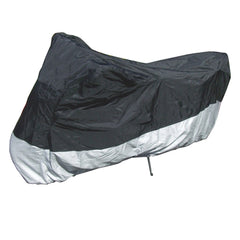 Heavy Duty Motorcycle Cover with Cable & Lock (L) Black - Formosa Covers