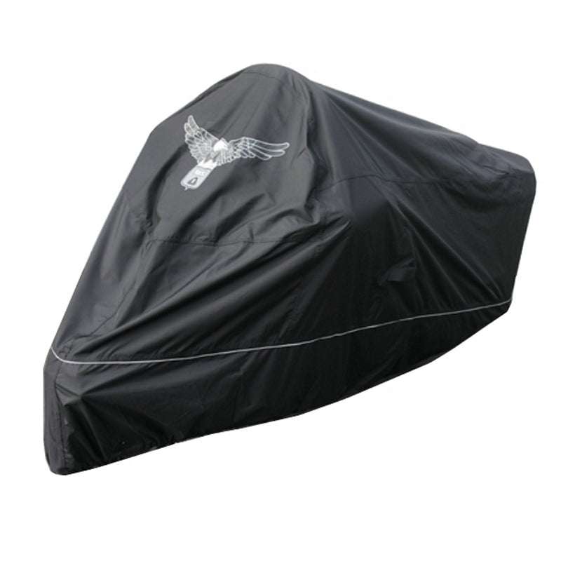 Premium Motorcycle Cover with Night Reflector and Eagle Emblem (XXL) Black - Formosa Covers