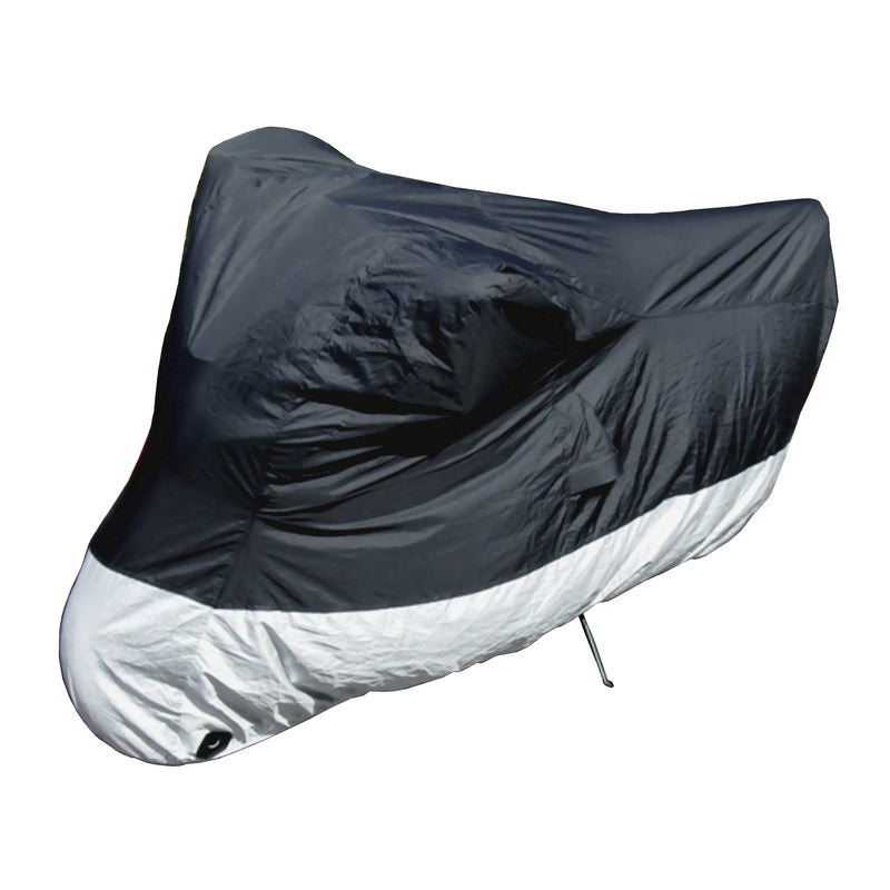 Deluxe All Season Light Weight Motorcycle Cover (L) Black - Formosa Covers