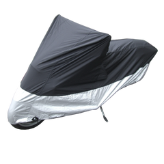 Deluxe Motorcycle Cover, All Season & Light Weight (XL) Black - Formosa Covers