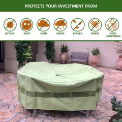 Patio Set Cover For Round or Square Table & Chairs 96