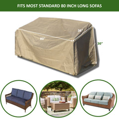 Patio Outdoor Sofa Cover Up to 80