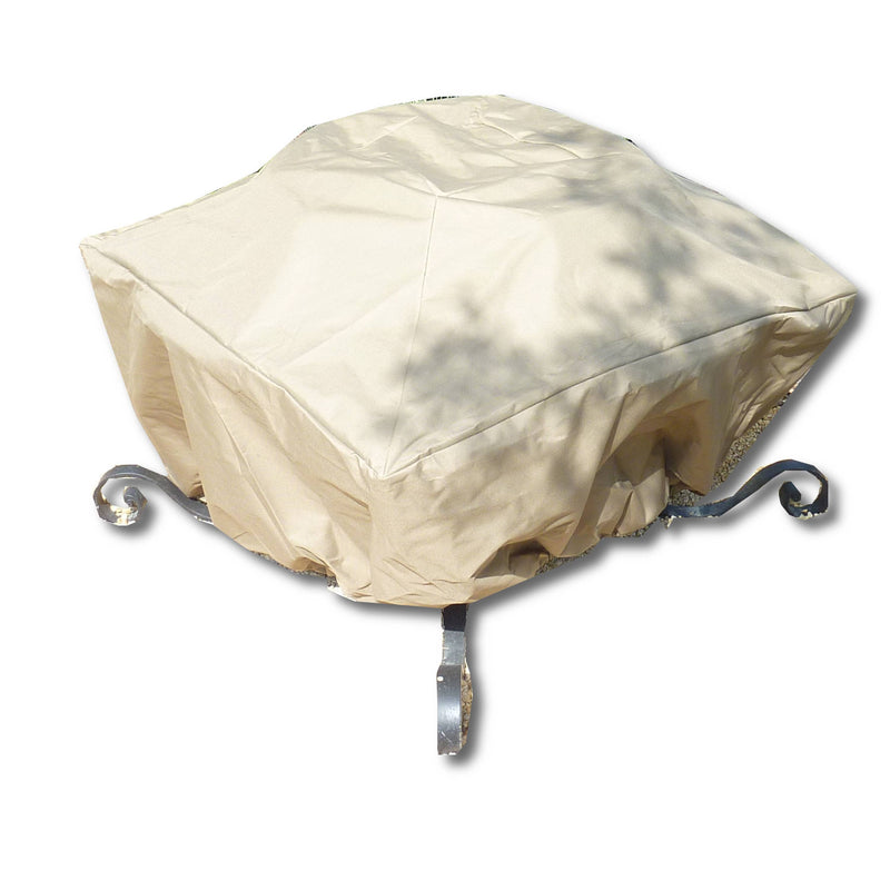 "Patio Outdoor Fire Pit Cover For Square or Round Fire Pits up to 40"" Classic Taupe - Formosa Covers"
