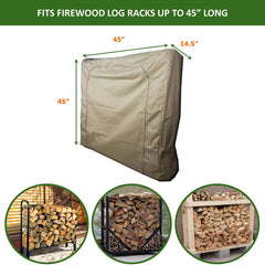 Firewood Log Rack Outdoor and Indoor Cover - Up to 45