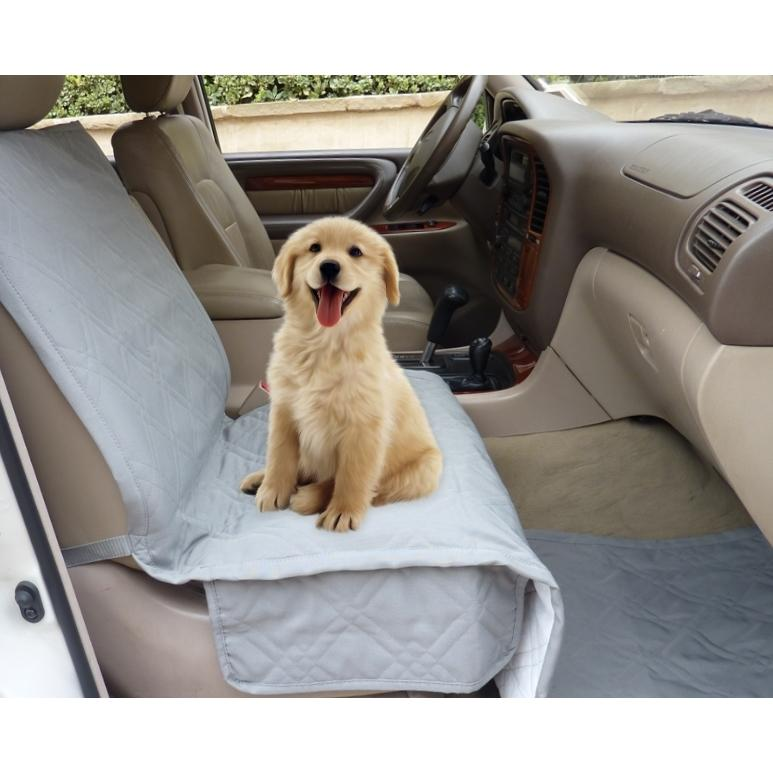 Pet Single Car Seat Cover with Floor Coverage Grey - Formosa Covers