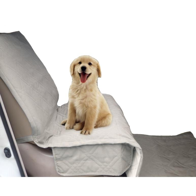 Pet Single Car Seat Cover with Floor Coverage Taupe - Formosa Covers