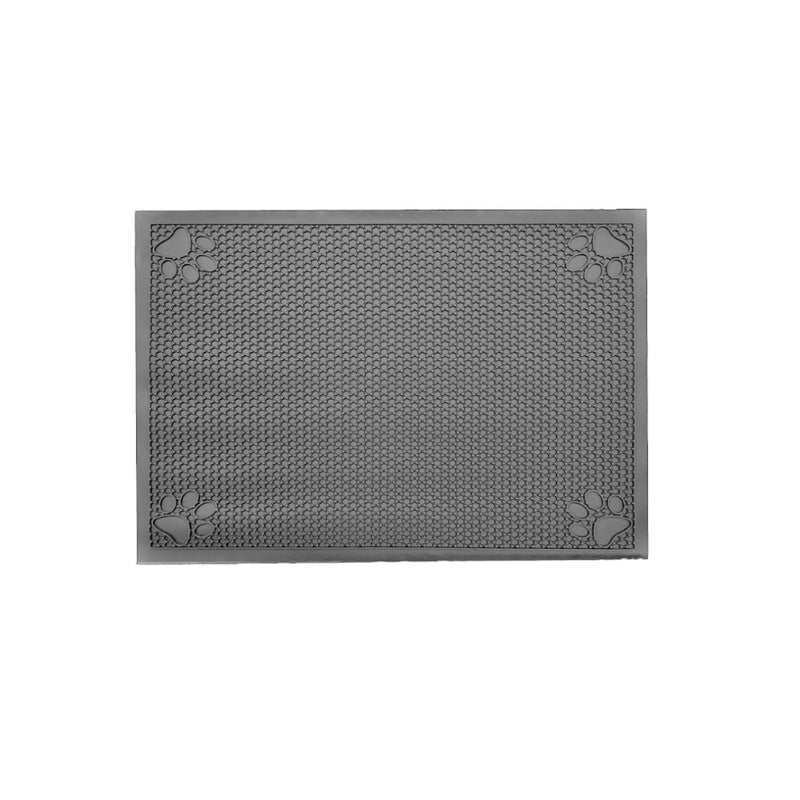"Pet Feeding Non-Slip Mat Waterproof For Water or Food Bowl Small 18""L x 23""W Slate Grey"