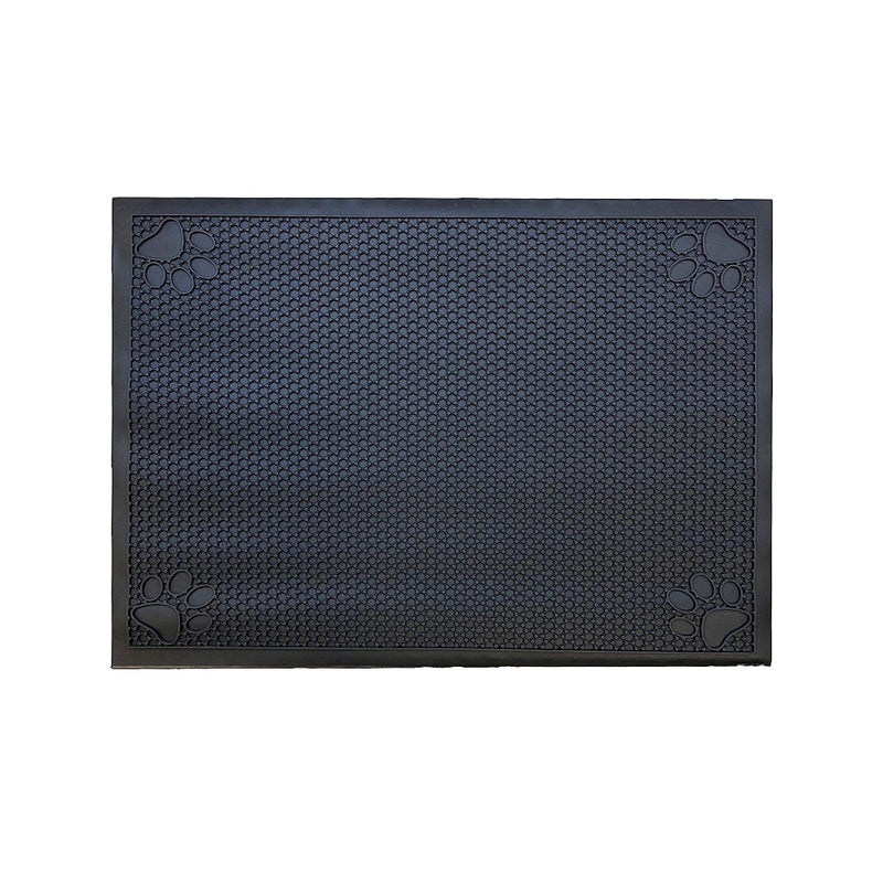 "Pet Feeding Cat Litter Catcher Non-Slip Mat Waterproof Large 23""L x 36""W Jet Black"