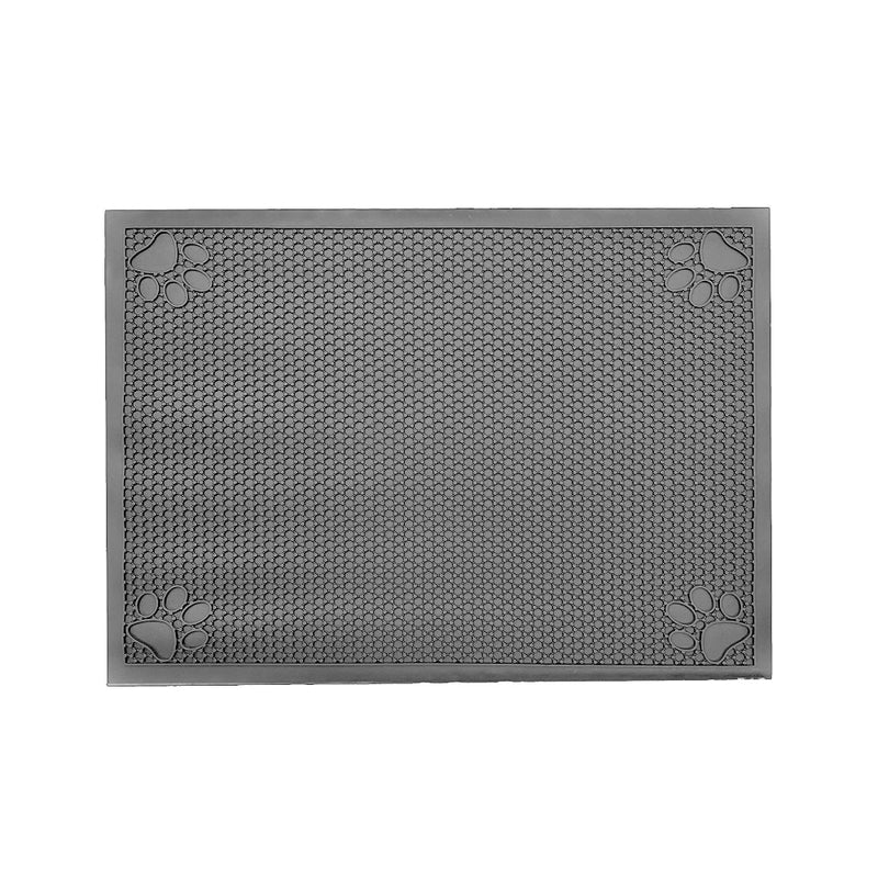 "Pet Feeding Cat Litter Catcher Non-Slip Mat Waterproof Large 23""L x 36""W Slate Grey"