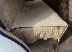 Car Seat Bench Cover For Dogs and Pets Taupe - Formosa Covers