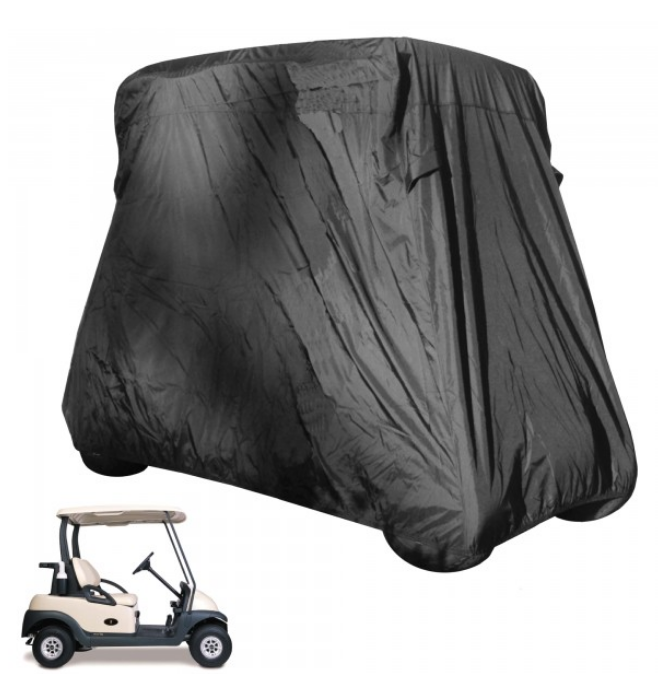 2 Passenger Golf Cart Storage Cover Black - Formosa Covers