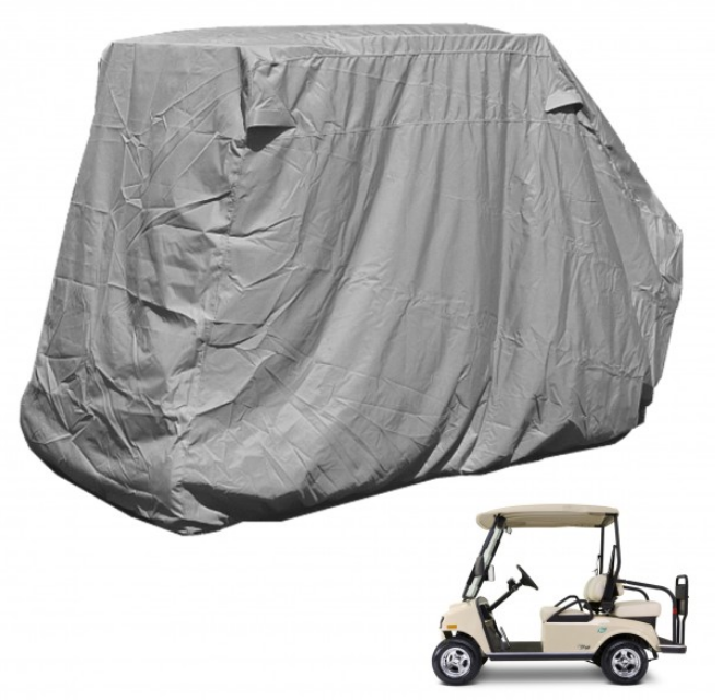 "4 Passenger Golf Cart Storage Cover (2 Passenger Short Roof 58"") Grey - Formosa Covers"