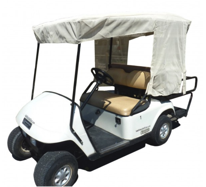 "Golf Cart Sun Shade UV Mesh Top Cover For 80"" Long Roof Beige - Formosa Covers"