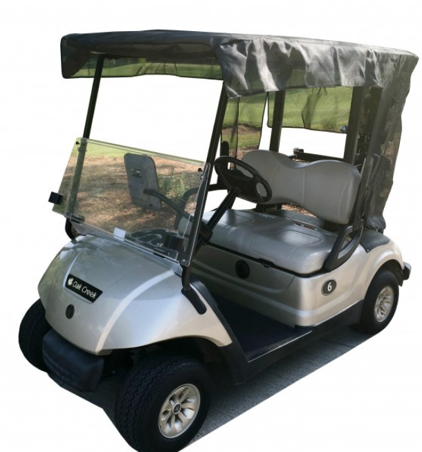"Golf Cart Sun Shade UV Mesh Top Cover Exclusive For Yamaha Drive 70"" Roof Black - Formosa Covers"