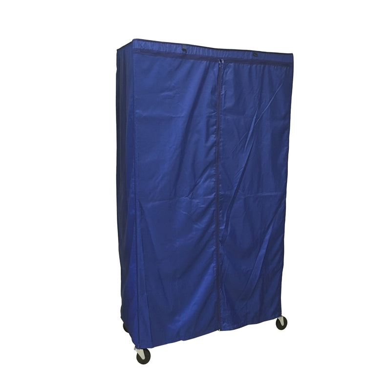 "Storage Shelving Unit Cover, fits racks 36""W x 18""D x 72""H in Royal Blue - Formosa Covers"