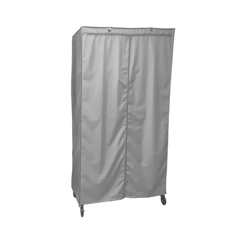 "Storage Shelving Unit Cover, fits racks 36""W x 24""D x 72""H in Grey - Formosa Covers"