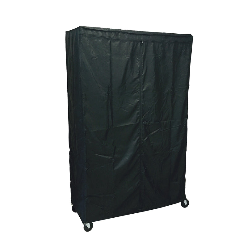 "Storage Shelving Unit Cover, fits racks 48""W x 18""D x 72""H in Black - Formosa Covers"