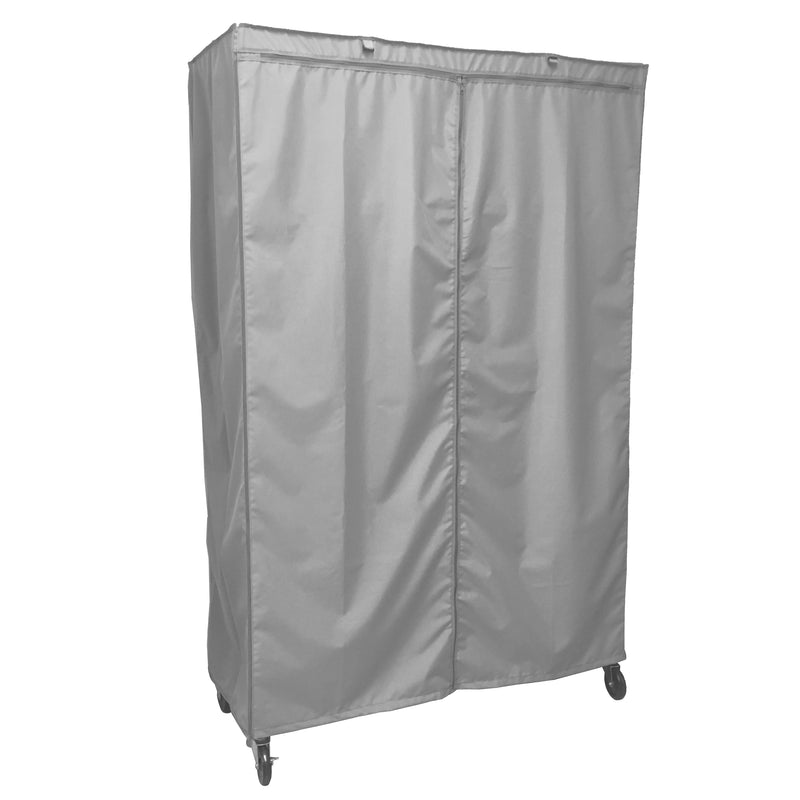"Storage Shelving Unit Cover, fits racks 48""W x 18""D x 72""H in Grey - Formosa Covers"