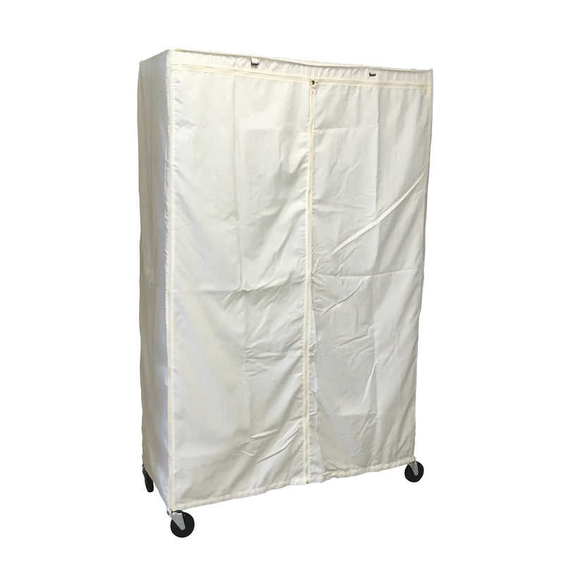 "Storage Shelving Unit Cover, fits racks 48""W x 18""D x 72""H in Off White - Formosa Covers"