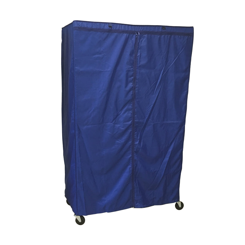 "Storage Shelving Unit Cover, fits racks 48""W x 24""D x 72""H in Royal Blue - Formosa Covers"
