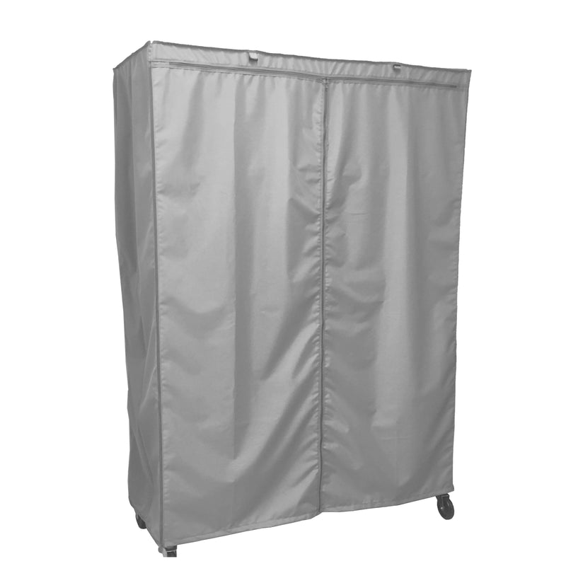 "Storage Shelving Unit Cover, fits racks 60""W x 24""D x 72""H in Grey - Formosa Covers"