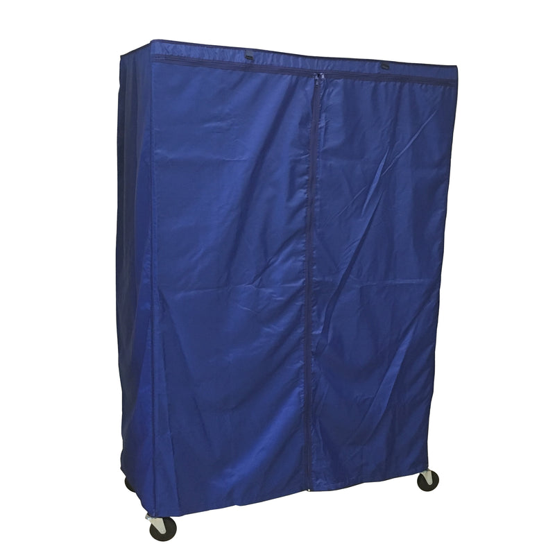 "Storage Shelving Unit Cover, fits racks 60""W x 24""D x 72""H in Royal Blue - Formosa Covers"