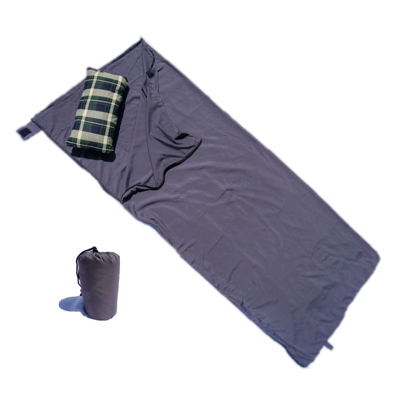 "Sleeping Bag Liner Hostel Travel Sack Sheet, Rectangular with Zipper 80""L - Formosa Covers"