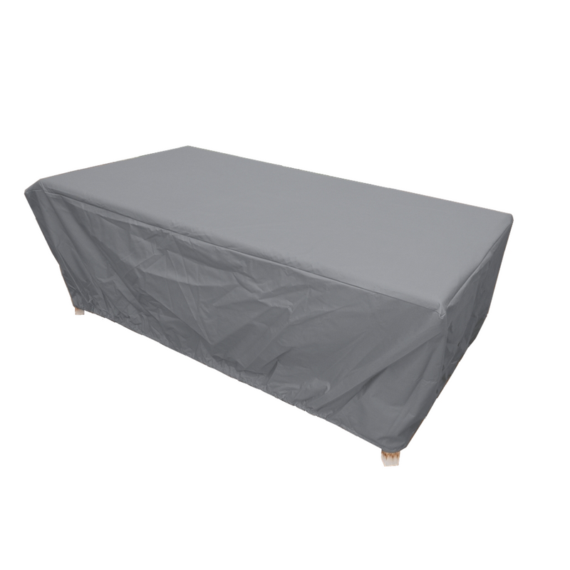 "Patio Set Cover For Rectangular or Oval Table 84""L x 44""W x 25""H Reserve Grey - Formosa Covers"