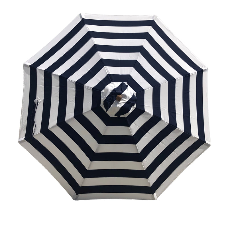 9ft Market Patio Umbrella 8 Rib Replacement Canopy Blue Cabana Stripe